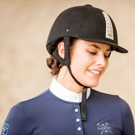 Horze Crescendo Ines Women's Technical Pique in Navy - Saratoga Saddlery