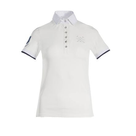Animo BOSTI Ladies Shirt in White with Swarovski Rhinestones