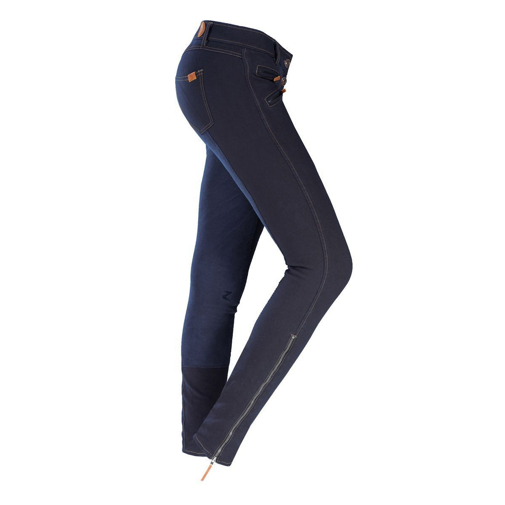 Horze Savanna Women's Breeches Dark Blue - Saratoga Saddlery