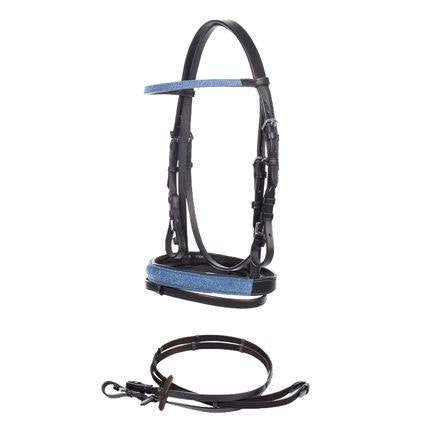 Horze Spirit Ross Bridle Blue Sparkle - Saratoga Saddlery