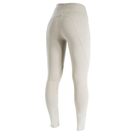 Horze Spirit Women's Knee Patch Active Tights in Light Brown - Saratoga Saddlery