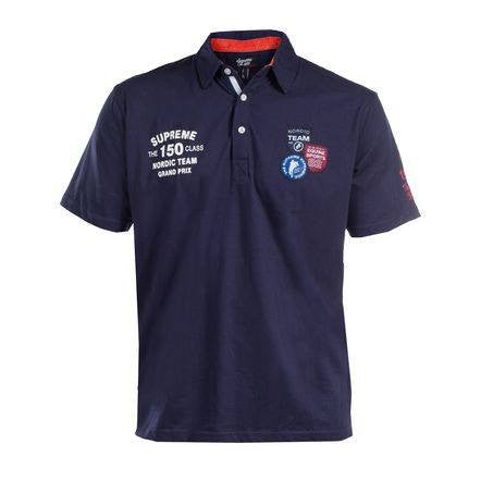 Horze Supreme Braden Men's Jersey Polo Shirt Navy - Saratoga Saddlery