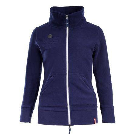 Horze Delia Women's Fleece Jacket in Dark Blue