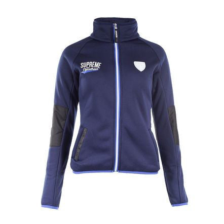 Horze Supreme Logan Women's Fleece Jacket in Dark Blue - Saratoga Saddlery