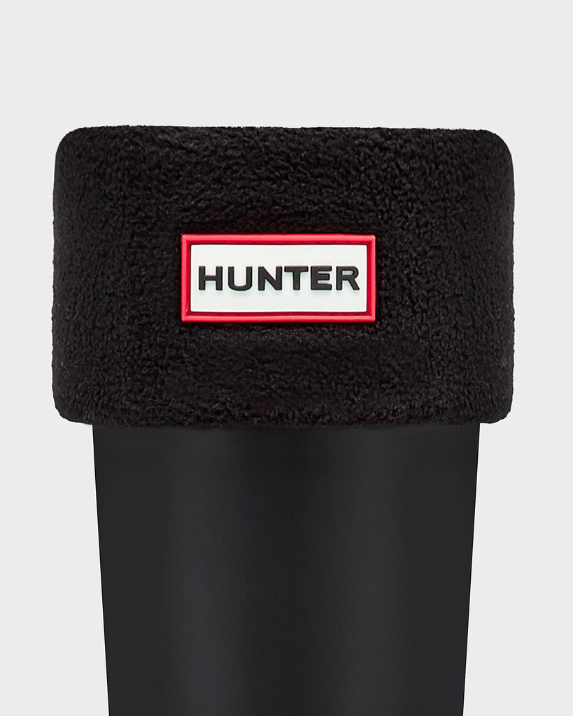 Hunter Tall Fleece Boot Socks in Black - Saratoga Saddlery