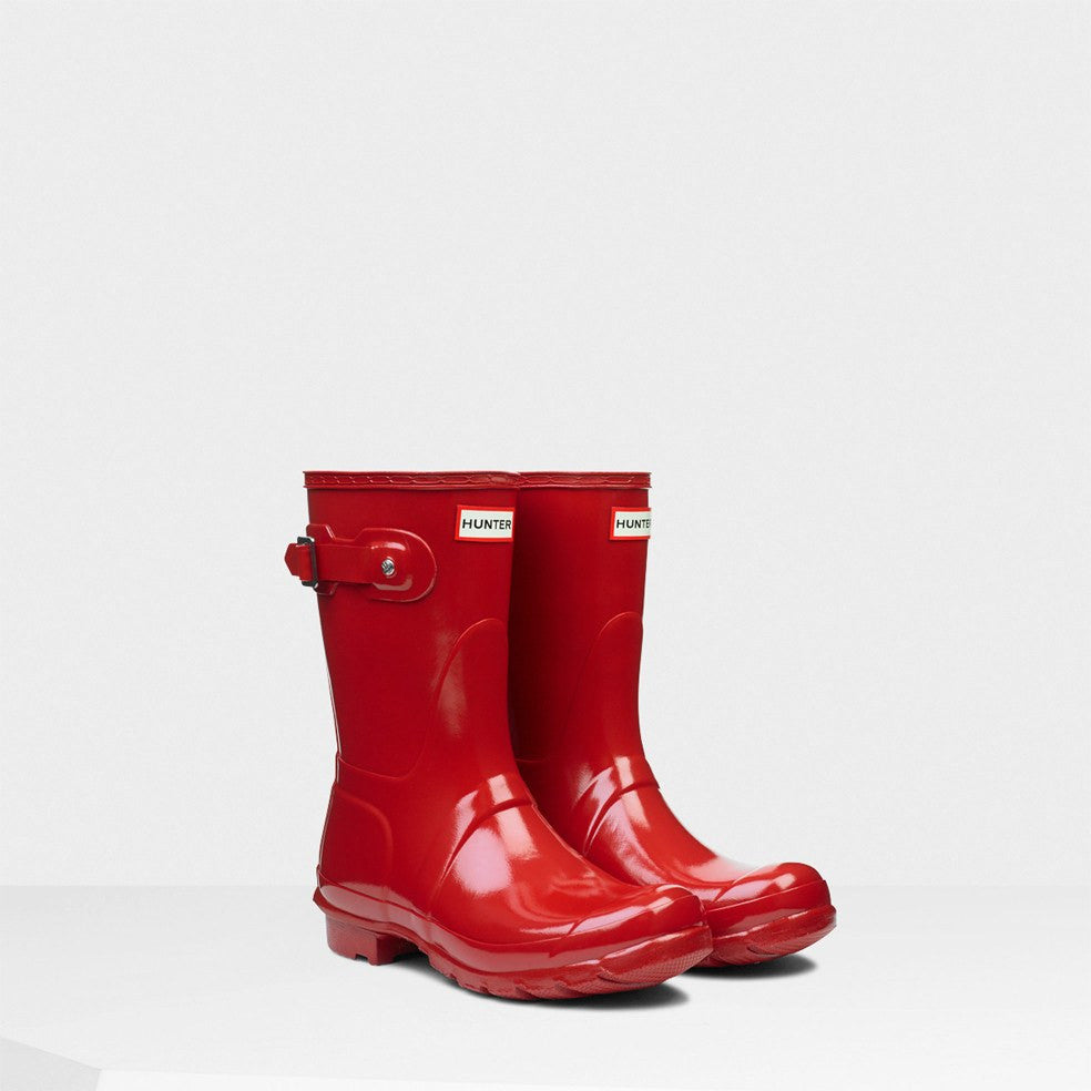 Hunter Orginal Short Gloss Rain Boot - Military Red