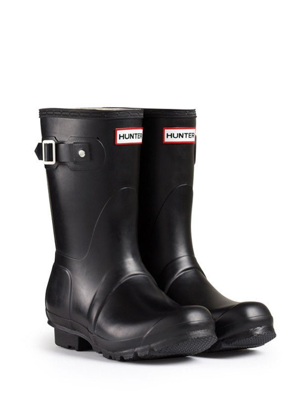 Hunter Original Short Rain Boots, Black - Saratoga Saddlery