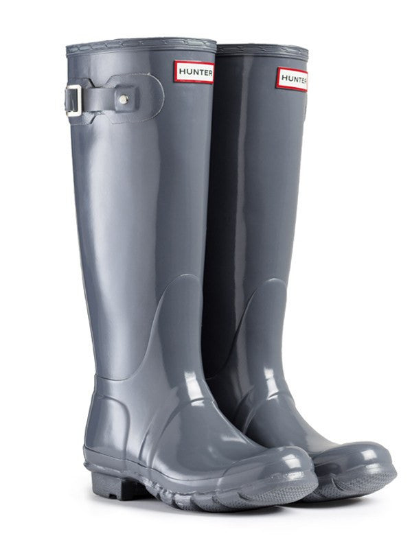 Hunter Original Tall Gloss Rain Boots, Graphite
