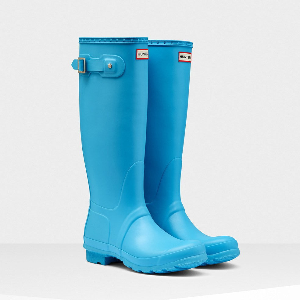 Hunter Original Tall Rain Boots - Sky Blue - Saratoga Saddlery
