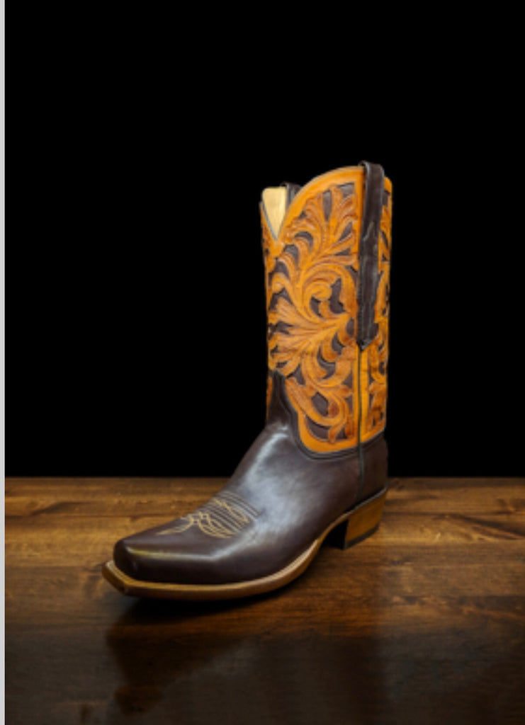 Lucchese Men's Cowboy Boot Hand Tooled Axel