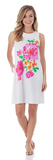 Jude Connally Melody Shift Dress in Painted Floral White - FINAL SALE