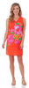 Jude Connally Juliet Shift Dress in Painted Floral Apricot - FINAL SALE
