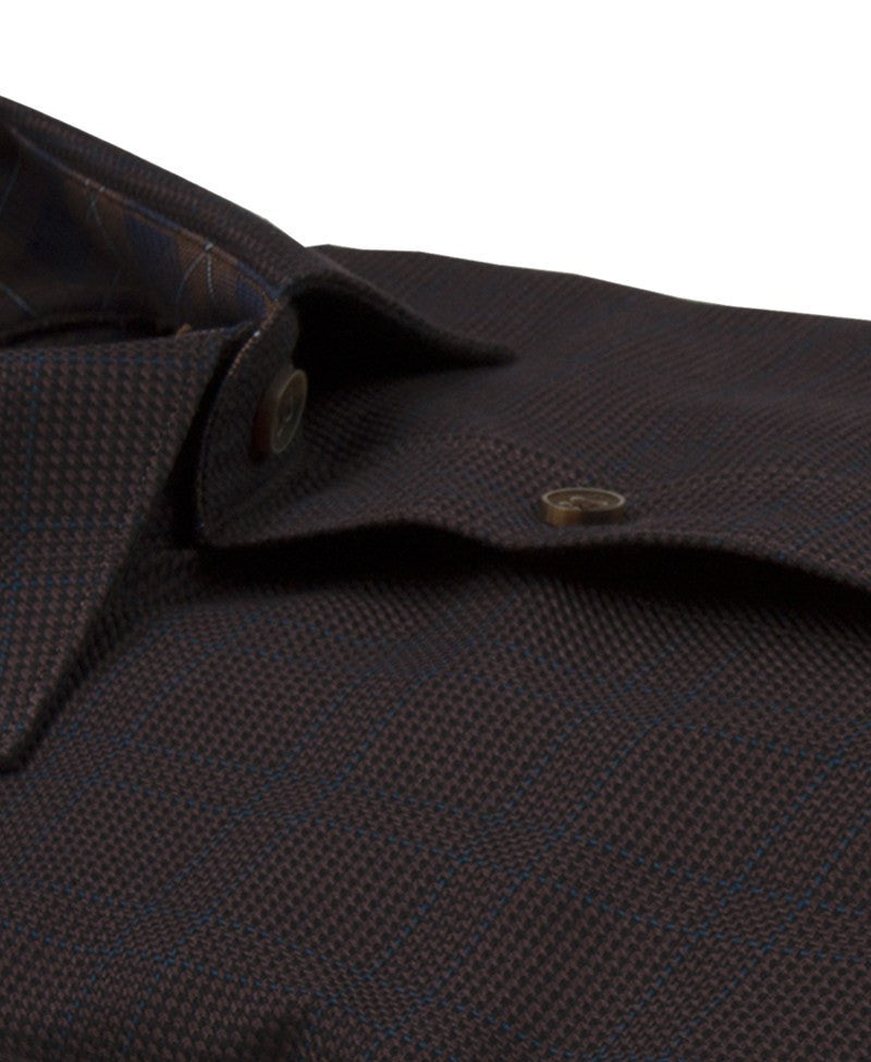 James Tattersall Andover Sport Shirt in Brown - Saratoga Saddlery