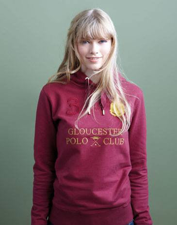 Joules Bardia Sweatshirt in Port - Saratoga Saddlery