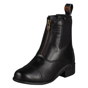 Ariat Kid's Devon III Zip Boots in Black - Saratoga Saddlery