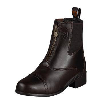 Ariat Kid's Devon III Zip Boots in Chocolate - Saratoga Saddlery