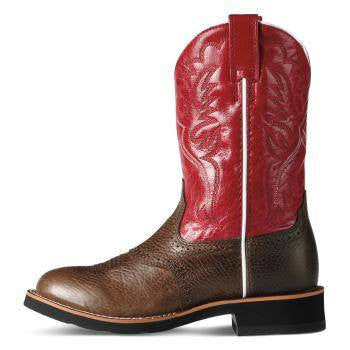 Ariat Kid's Heritage Crepe Boots in Washed Brown - Saratoga Saddlery