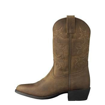 Ariat Kid's Heritage Western Boots Distressed Brown - Saratoga Saddlery