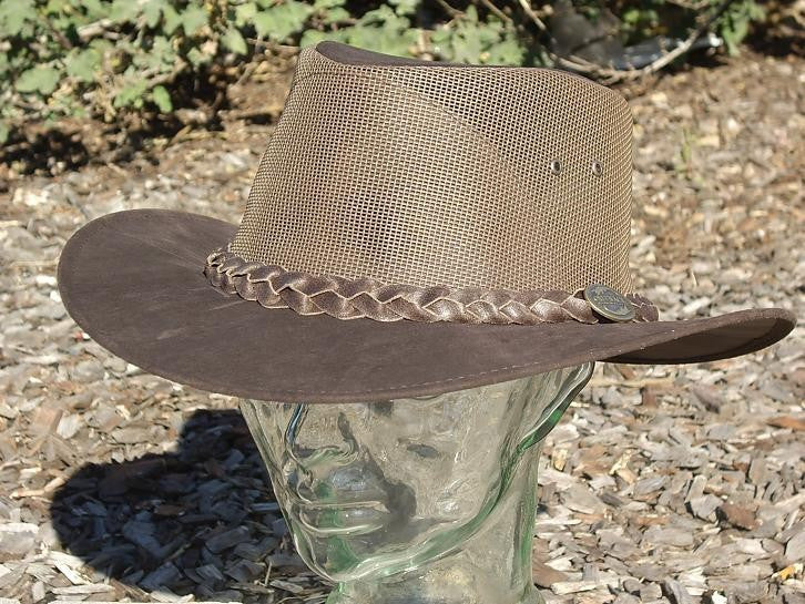 Kanga Cooler hat - Brown Outback Survival Gear - Saratoga Saddlery