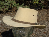 Kangaroo Leather Hat- Bone Softy Outback Survival Gear - Saratoga Saddlery