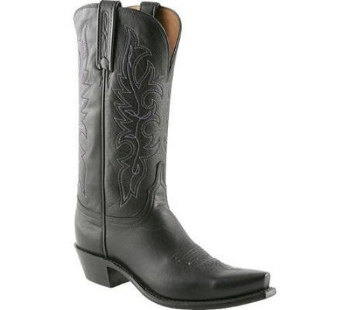 Lucchese 1883 Women's Burnished Boot in Black NV4001
