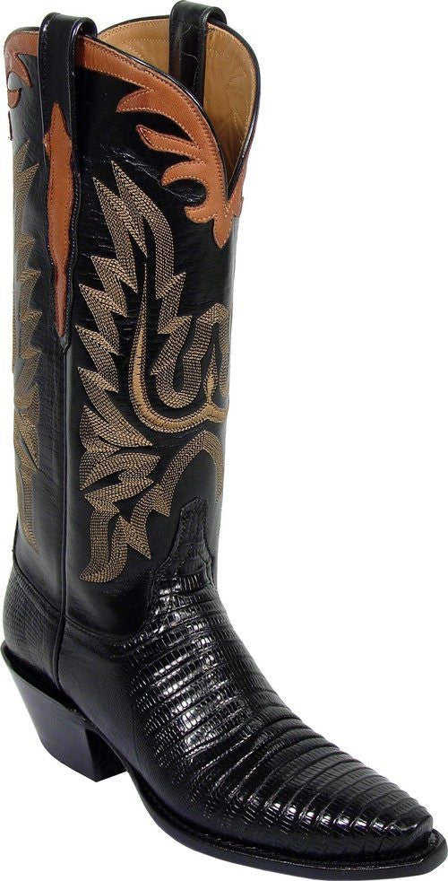 Lucchese Ladies Black Lizard Boots L4075 - Saratoga Saddlery