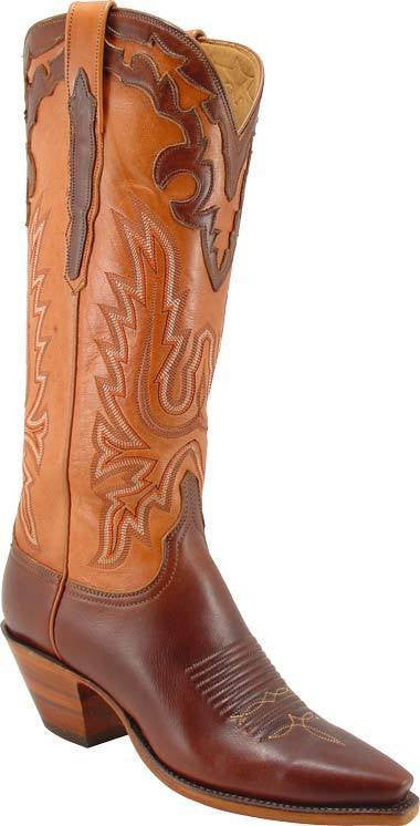 Lucchese Chocolate Oil Calf L4607 - Saratoga Saddlery