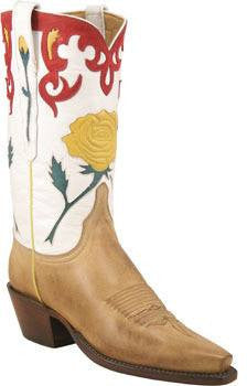 Lucchese Classic L4646 Women's Yellow Rose Boot - LAST PAIR