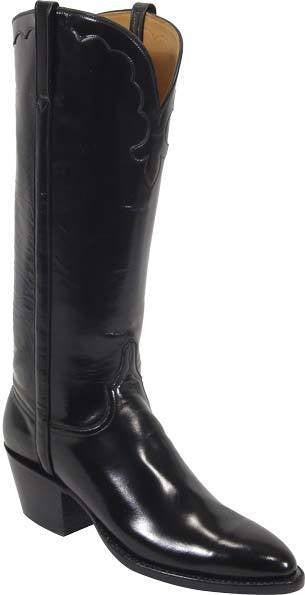Lucchese Smooth Black Goat Boot L4505 - Saratoga Saddlery
