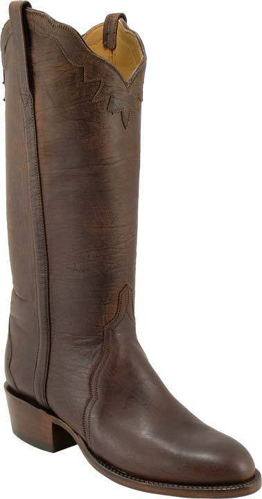 Lucchese Chocolate Mad Dog Goat L4595 - Saratoga Saddlery