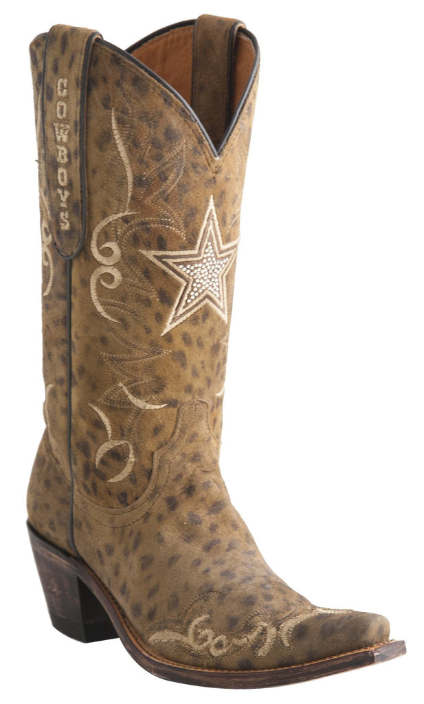 Lucchese Women's Cheetah Cowboys Boot Leopard Cowboy boots- M1056 - Saratoga Saddlery & International Boutiques