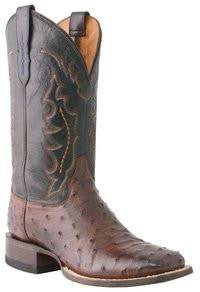 Men's Lucchese M1611 Hogan Full Quill Ostrich and Ranch Hand Boot