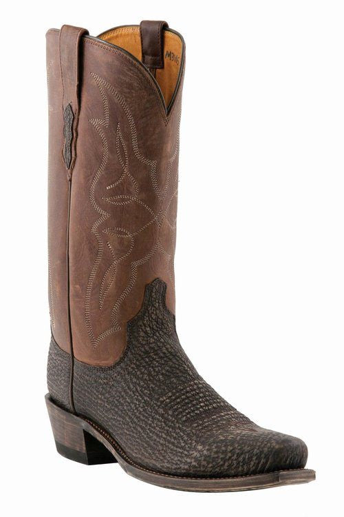 Lucchese M3105 Chocolate Sanded Shark - Saratoga Saddlery