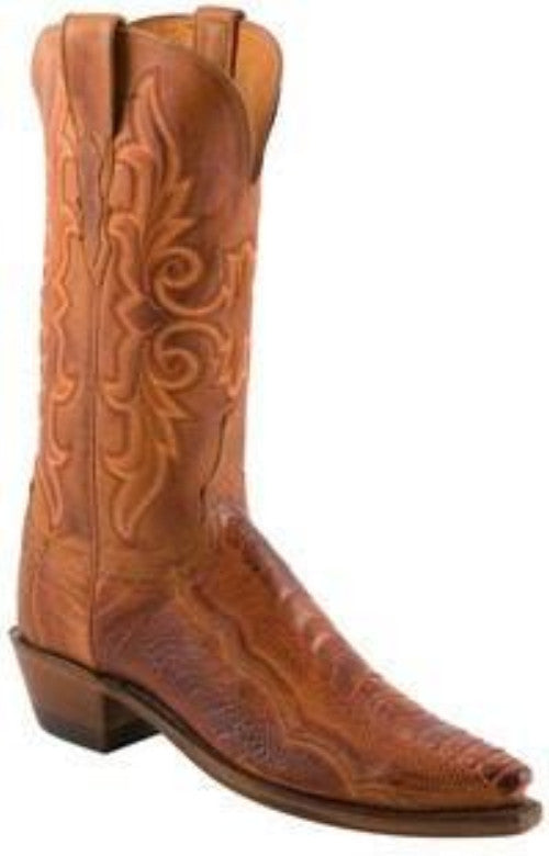 Lucchese 1883 Women's Matte Ostrich Leg Boot in Brandy N4066 - Saratoga Saddlery & International Boutiques