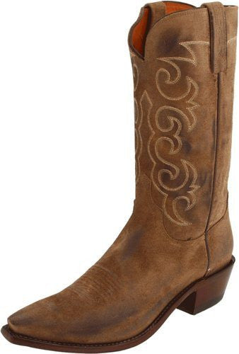 Lucchese Men's Tan Suede Cowboy Boot NV1503 - Saratoga Saddlery & International Boutiques