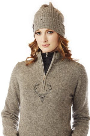 Krimson Klover Marta Quarter Zip Sweater in Indigo On Sale!