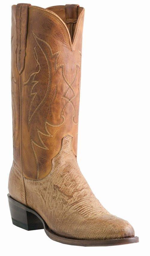 Lucchese Men's Ostrich Boots M1600 - Saratoga Saddlery