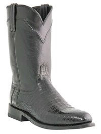 Lucchese Men's Croc Belly Napoli Cord Design Roper M1641 - Black - Saratoga Saddlery & International Boutiques