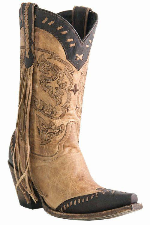 Lucchese 1883 Women's Fringe Wingtip Boot M5023 - LAST PAIR - Saratoga Saddlery & International Boutiques