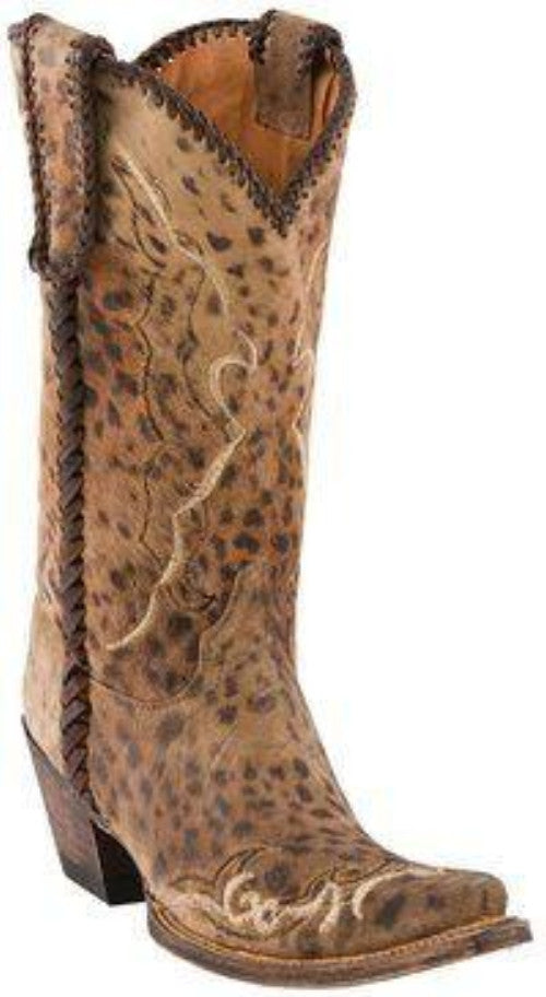 Lucchese 1883 Women's Camel Cheetah Print Calf Boot M5040 Animal Print - Saratoga Saddlery & International Boutiques