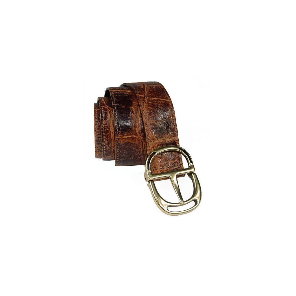 Moore & Giles Wide Chocolate Belt - Saratoga Saddlery