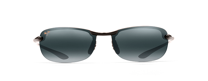 Maui Jim Makaha Sunglasses in Gloss Black with Neutral Grey Lens