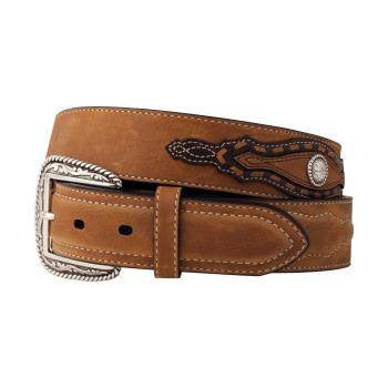 Clever with Leather Hoofprint Belt - Red