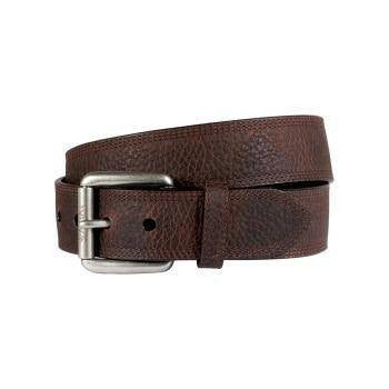 Ariat Men's Triple Row Stitch Belt in Brown Rowdy - Saratoga Saddlery & International Boutiques