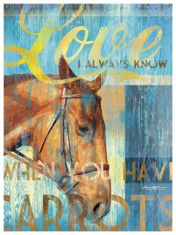 My Town Art Lithograph 12 x 16 - HORSE LOVE
