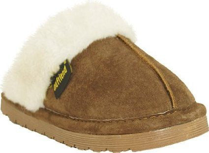 Old Friend Children's Bobcat Slipper Chocolate - Saratoga Saddlery