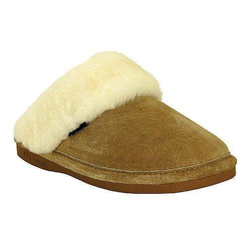 Old Friends Ladies Scuff Slippers Chestnut - Saratoga Saddlery