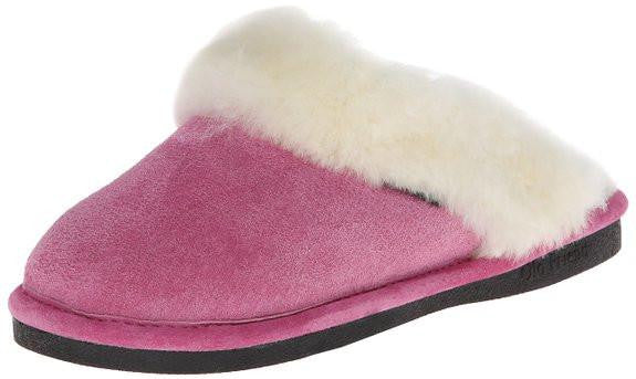 Old Friends Ladies Scuff Slippers Hot Pink - Saratoga Saddlery