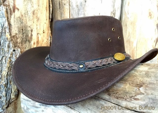 Outback Survival Gear Buffalo Hat H3001 Brown - Saratoga Saddlery