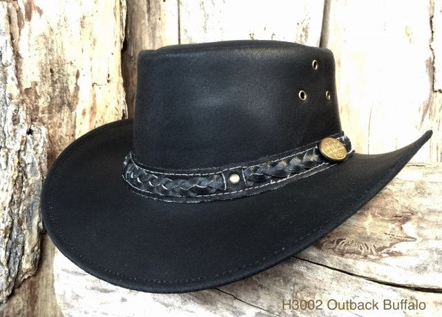 Outback Survival Gear Buffalo Hat H3002 Black - Saratoga Saddlery